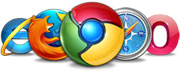 Image of various browser logos